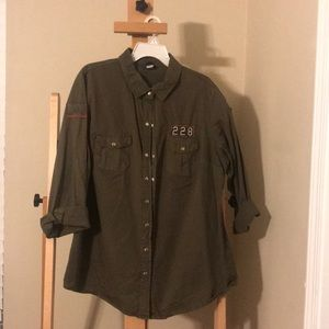 Military button up. Torrid